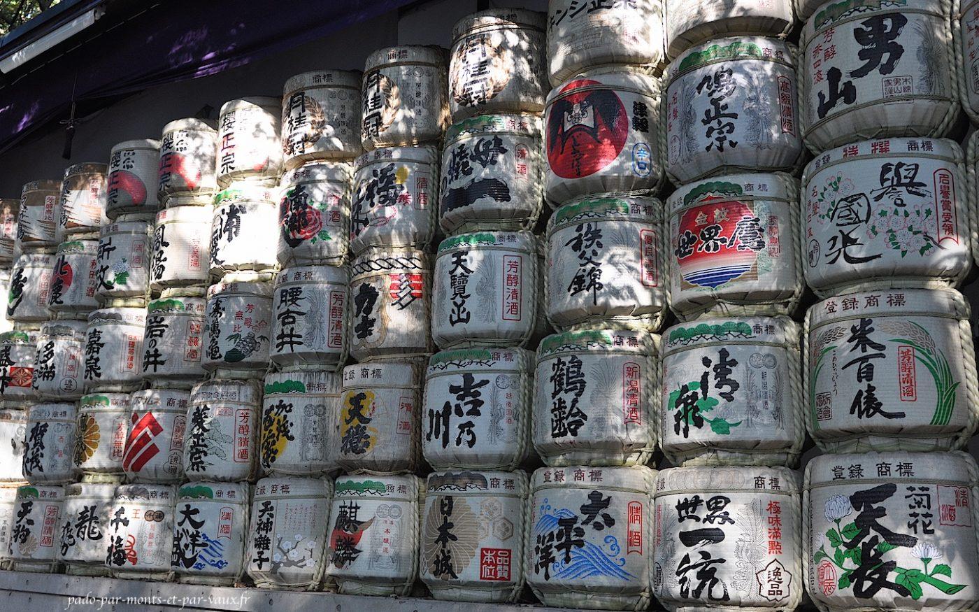 Tonneaux de saké