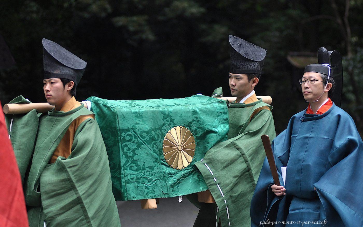 transport des cendres de l'empereur Meiji