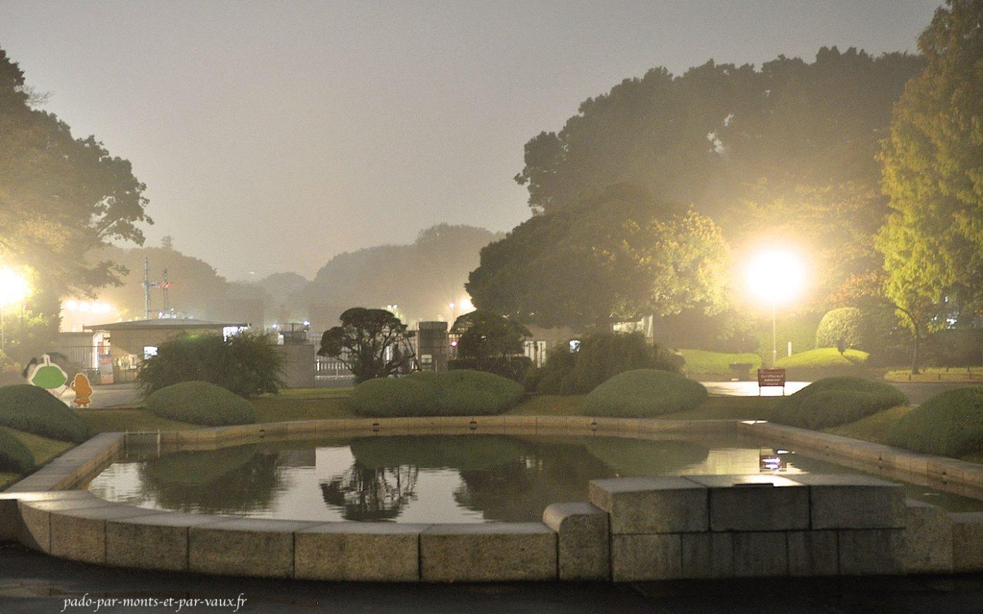 Parc Ueno dans le brouillard