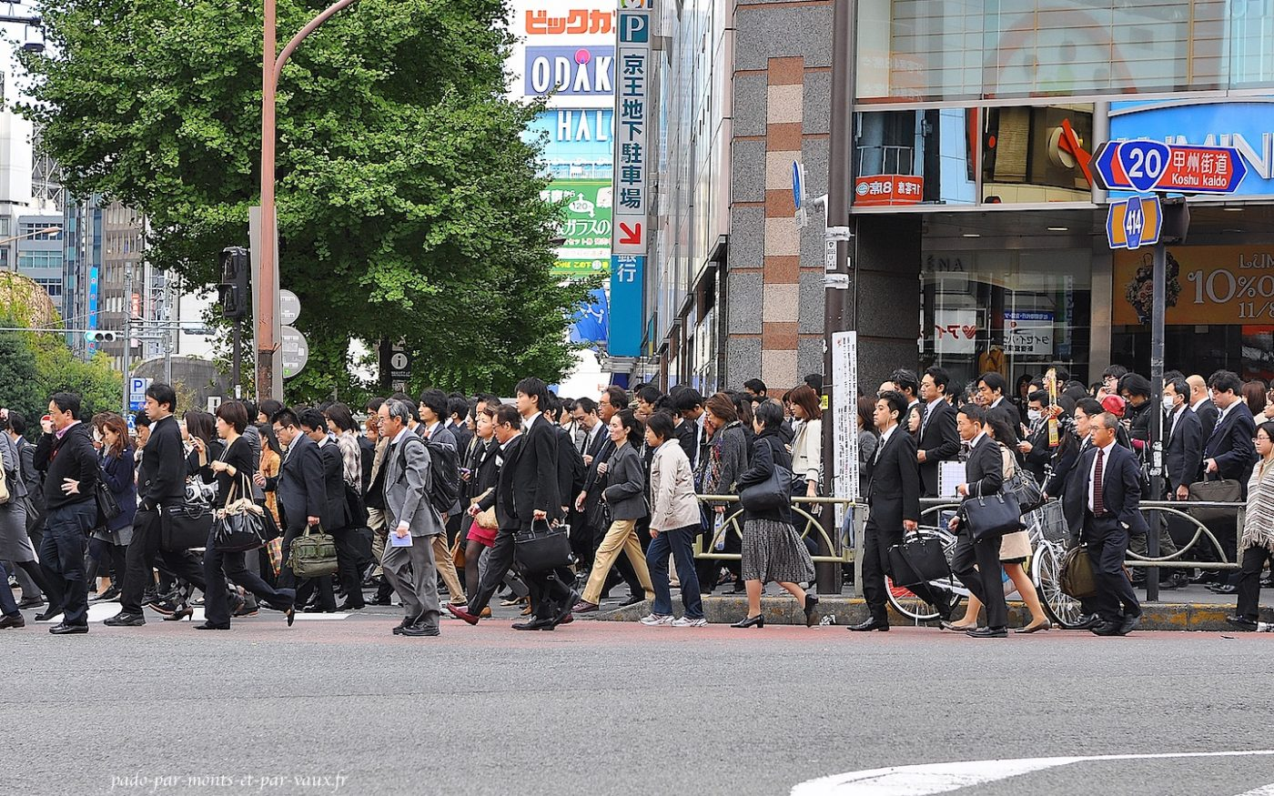 Shinjuku c'est l'heure du boulot