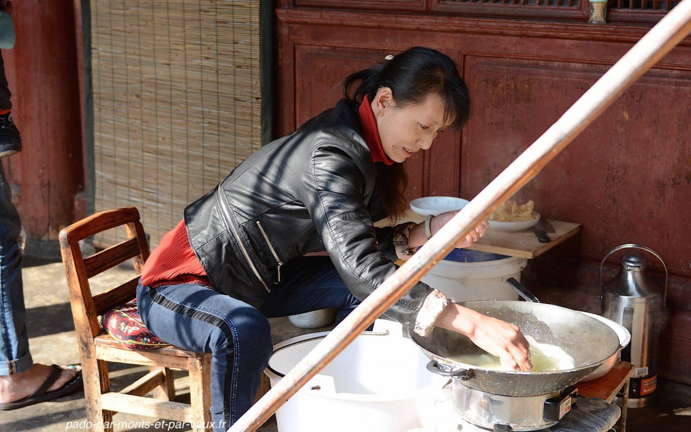 village de Xizhou - fromage