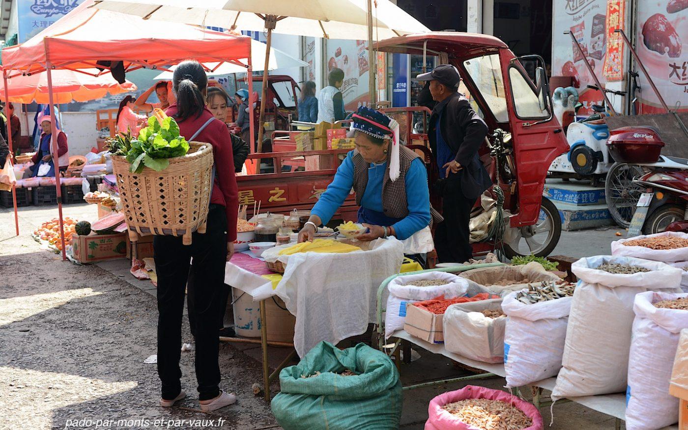 village de Xizhou - marché