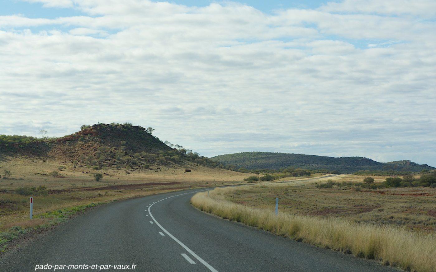 Route en direction d'Uluru