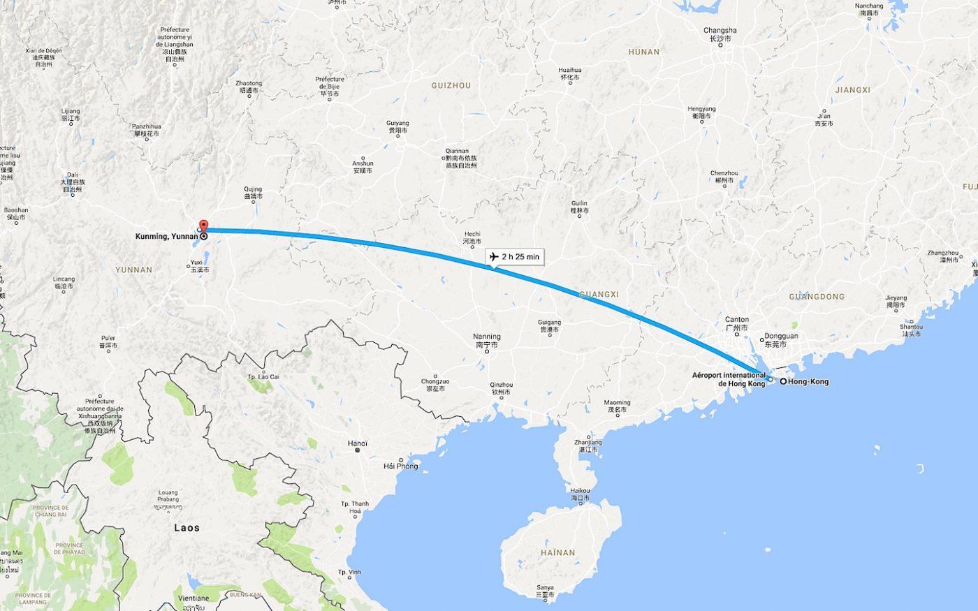 De Hong Kong à Kunming