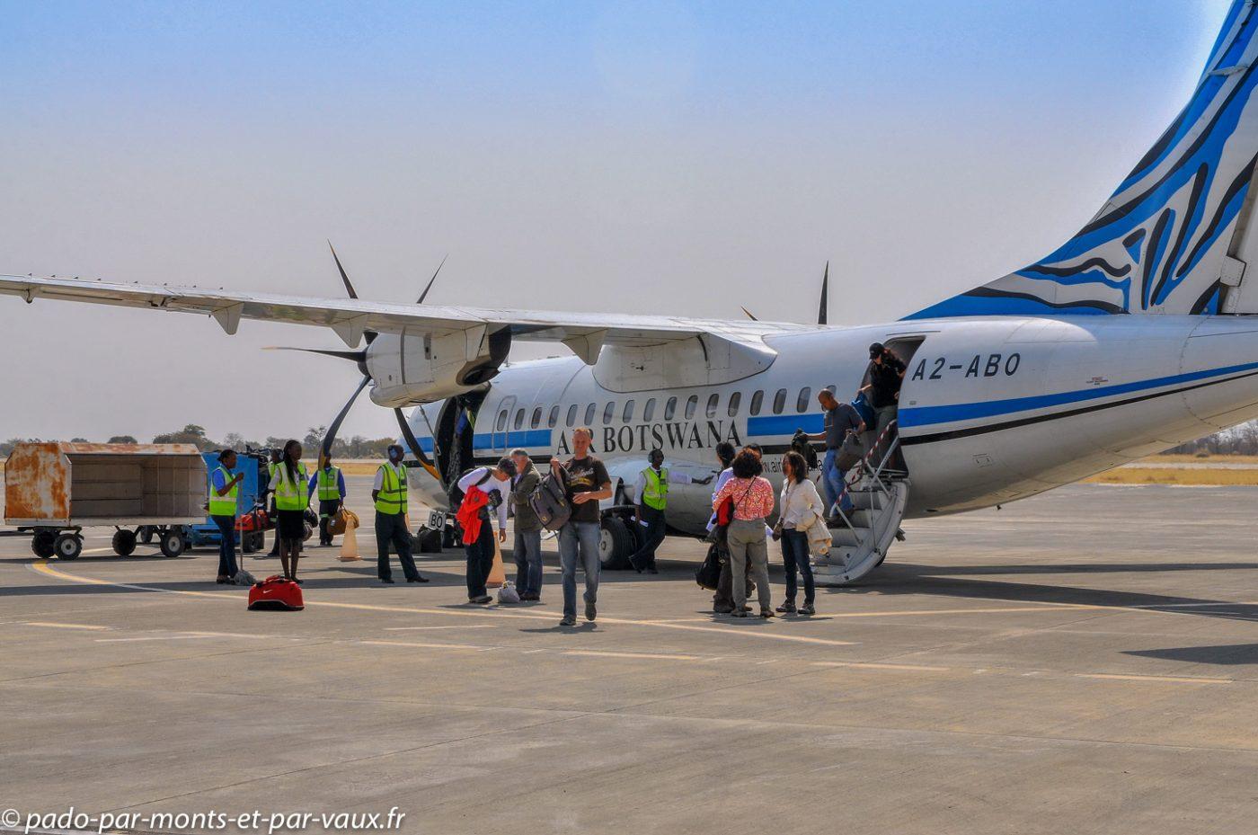 Arrivée aéroport de Maun