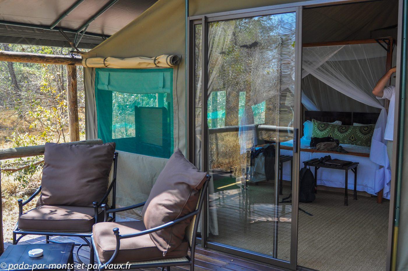 Camp Moremi - notre bungalow