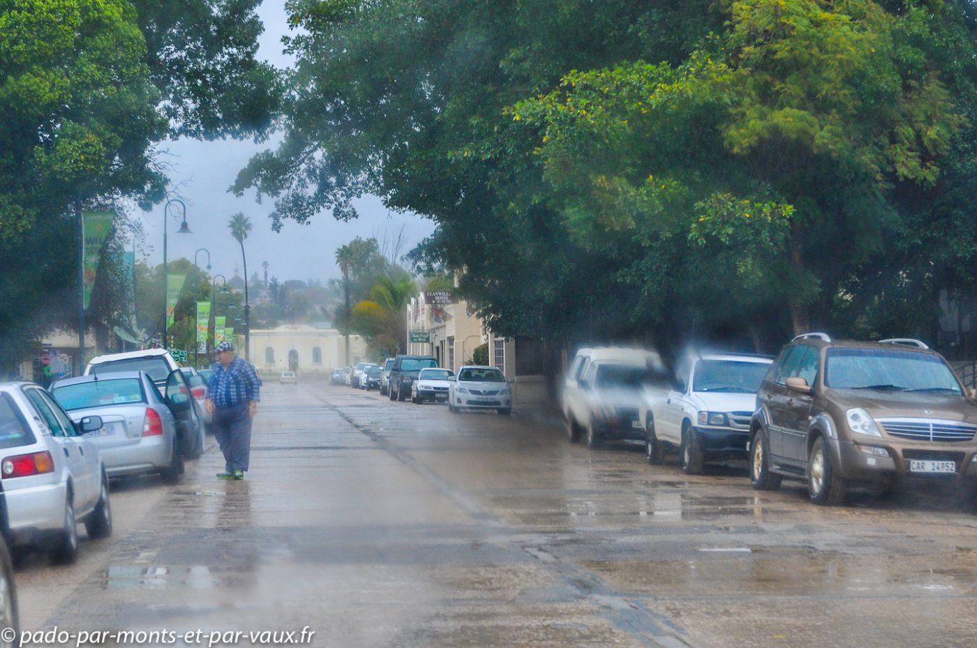 Clanwilliam sous la pluie