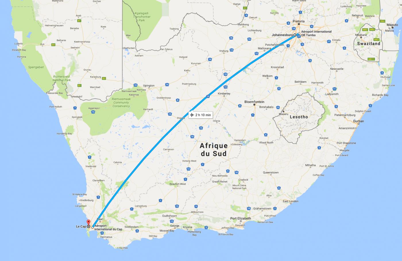 Johannesburg - Le Cap
