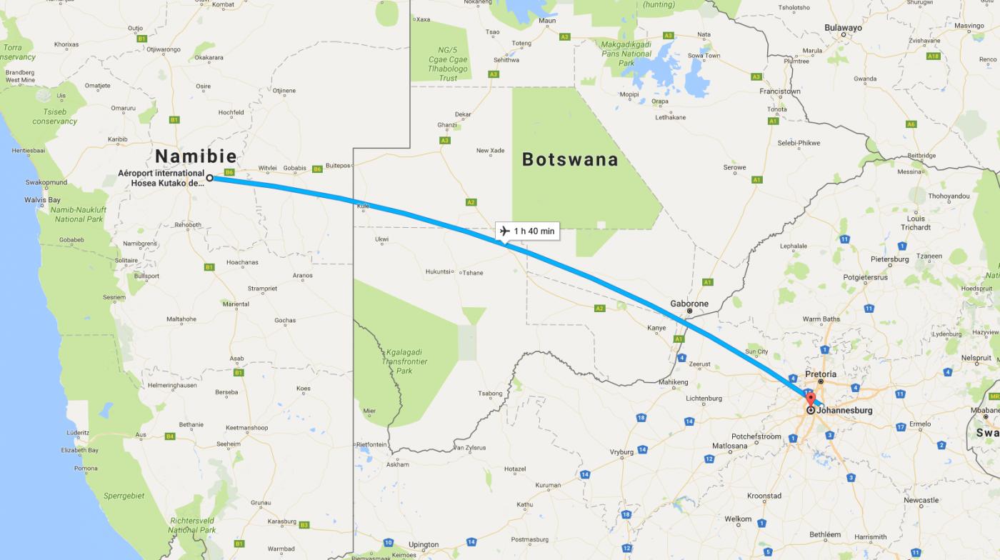 Windhoek - Johannesburg