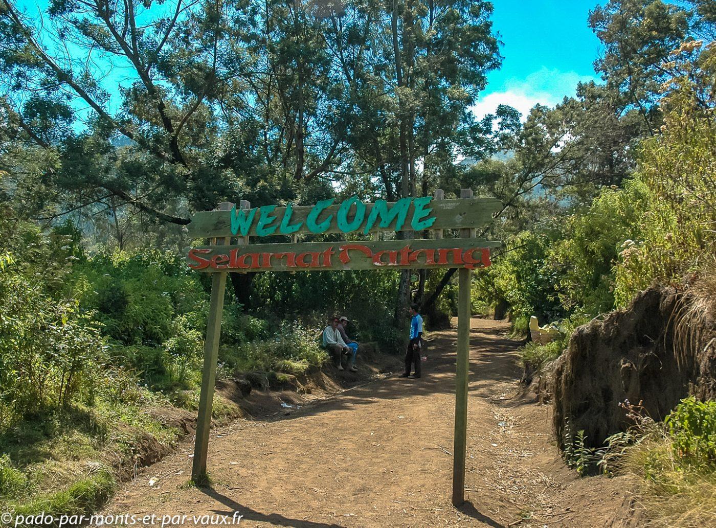 entrée du parc naturel