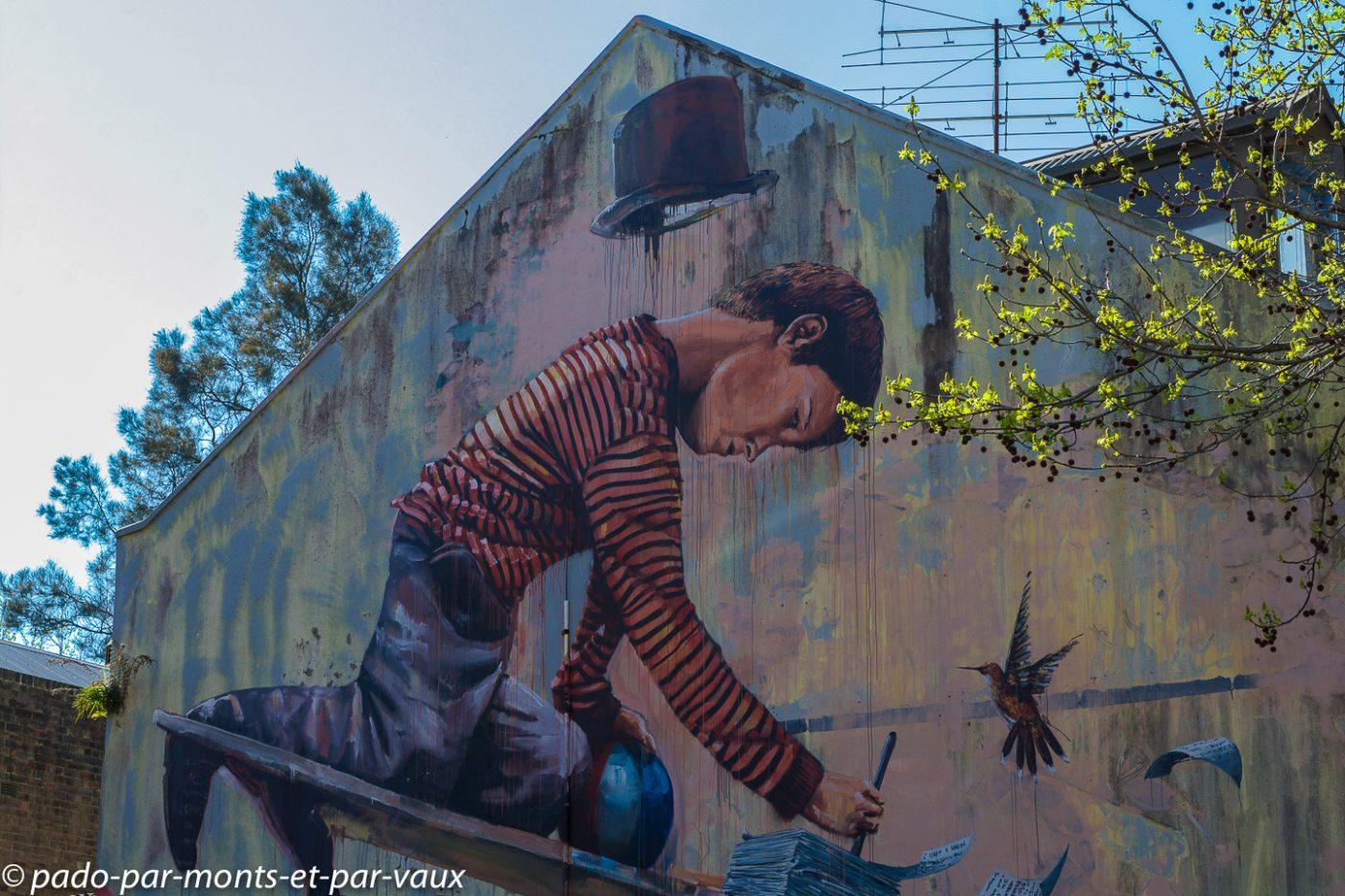 Street art Sydney - Wooloomooloo
