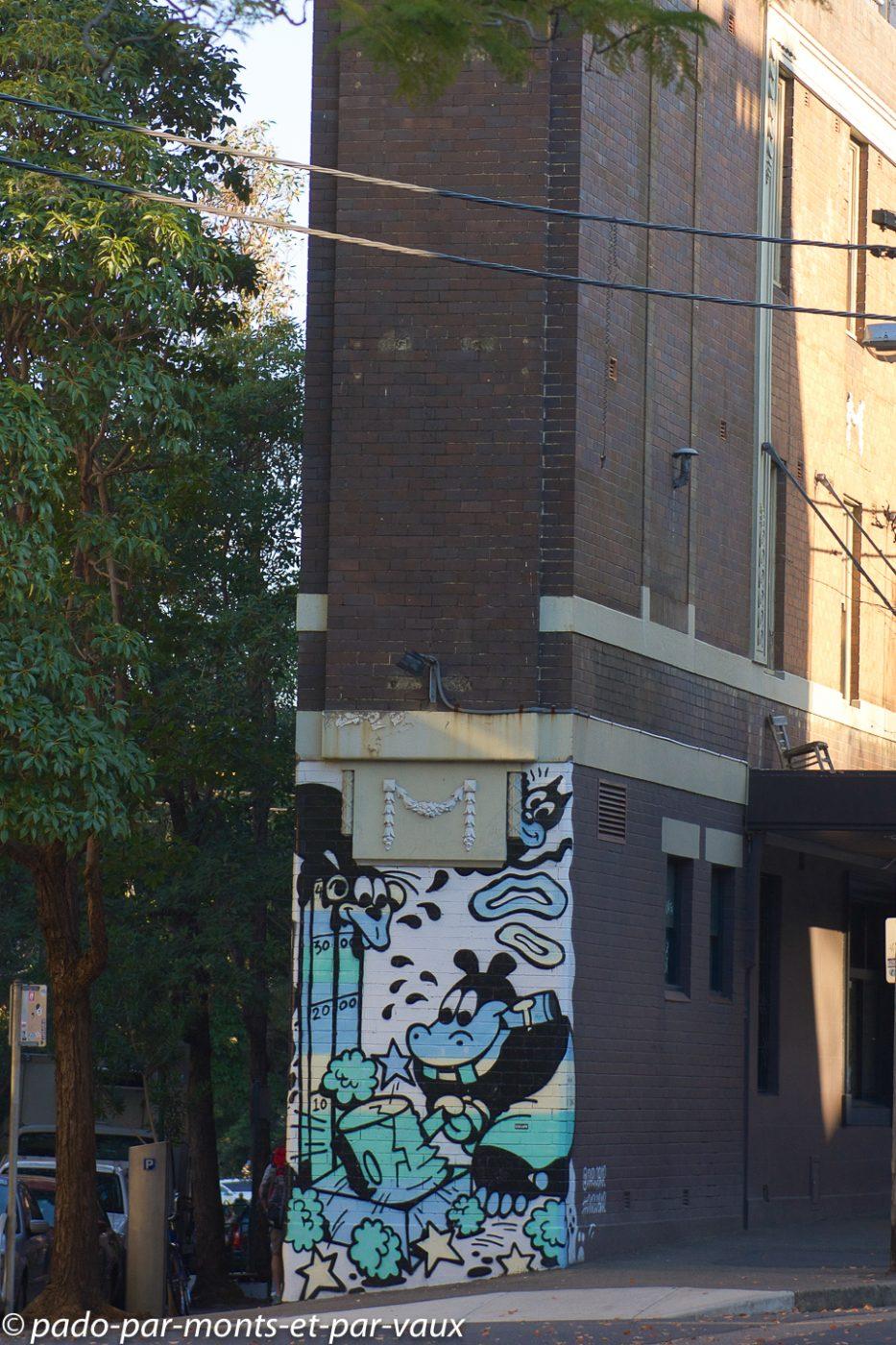 Street art Sydney - Kings cross