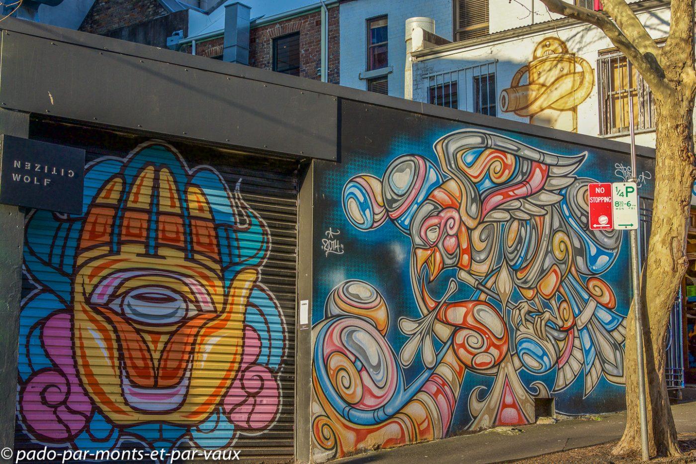 Street art Sydney - Surry hills