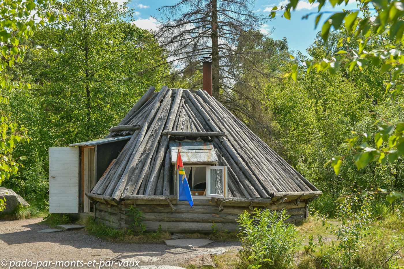 Stockholm - Skansen - maison sami