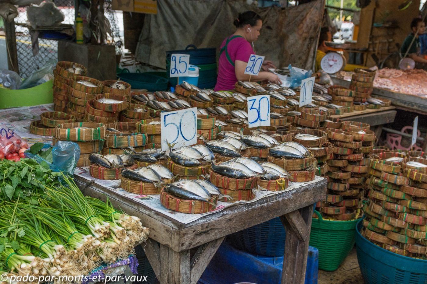 Bangkok - marché au poisson