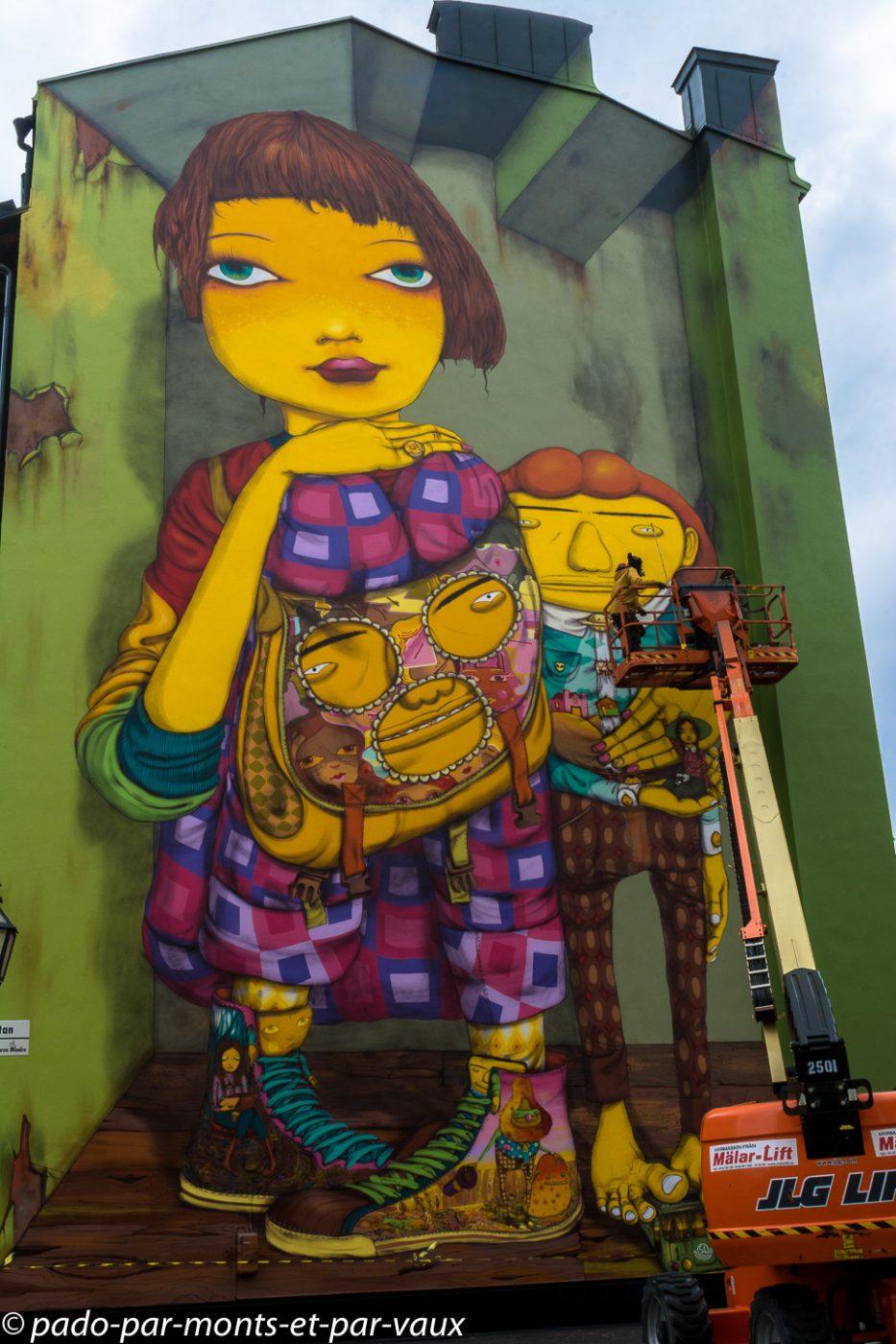 Street art Stockholm - Sodermalm - OS GEMEOS