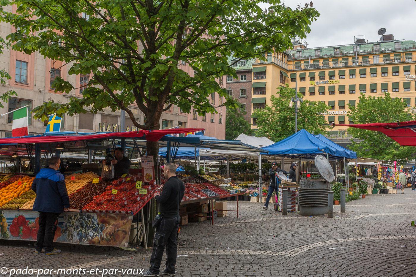 Stockholm - Norrmalm - marché