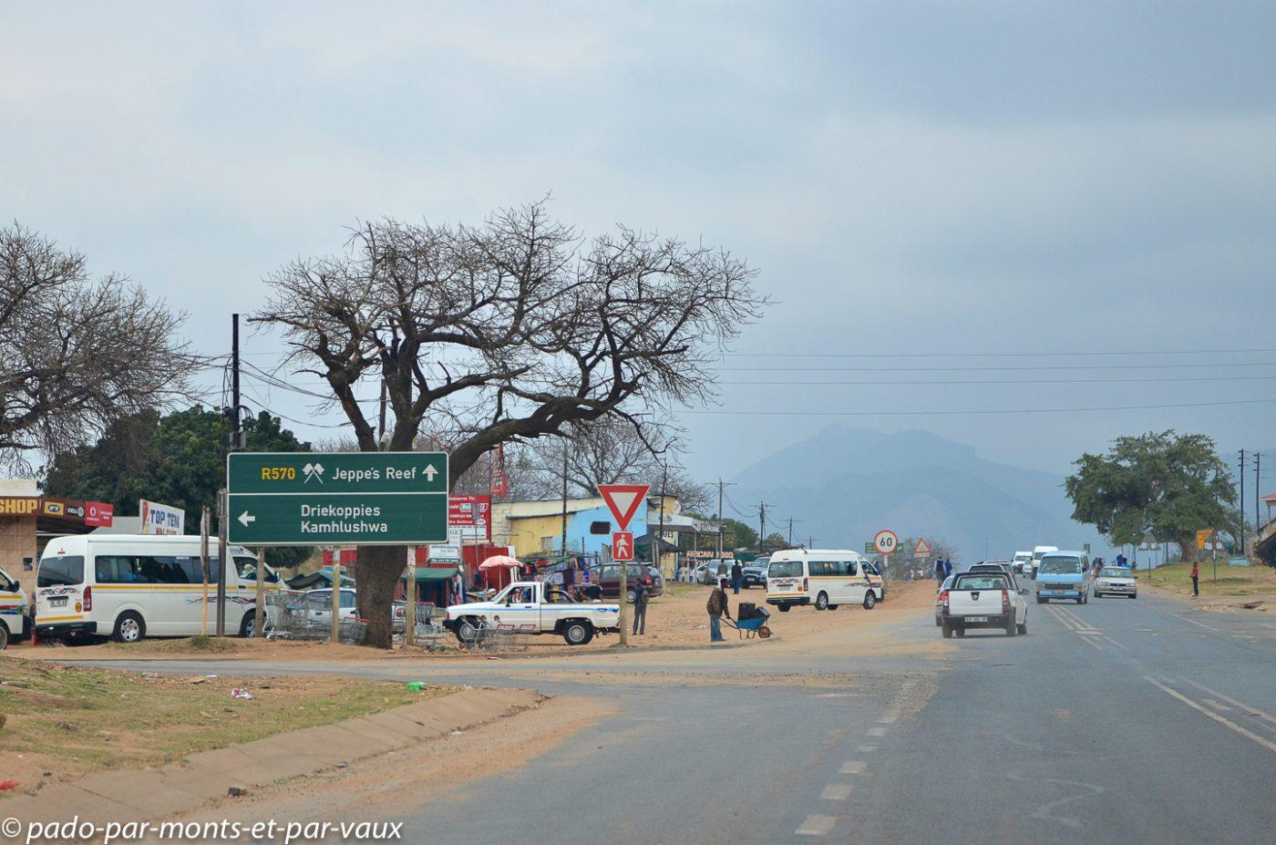Sur la route vers le Swaziland