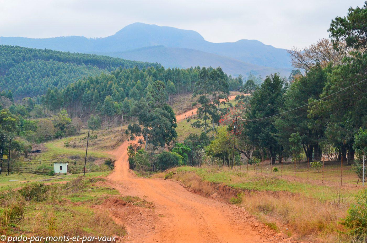 Swaziland - route d'accès au lodge