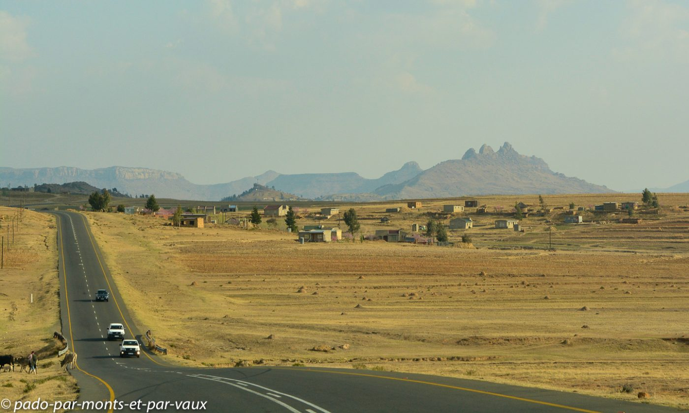 Lesotho - route de Malealea