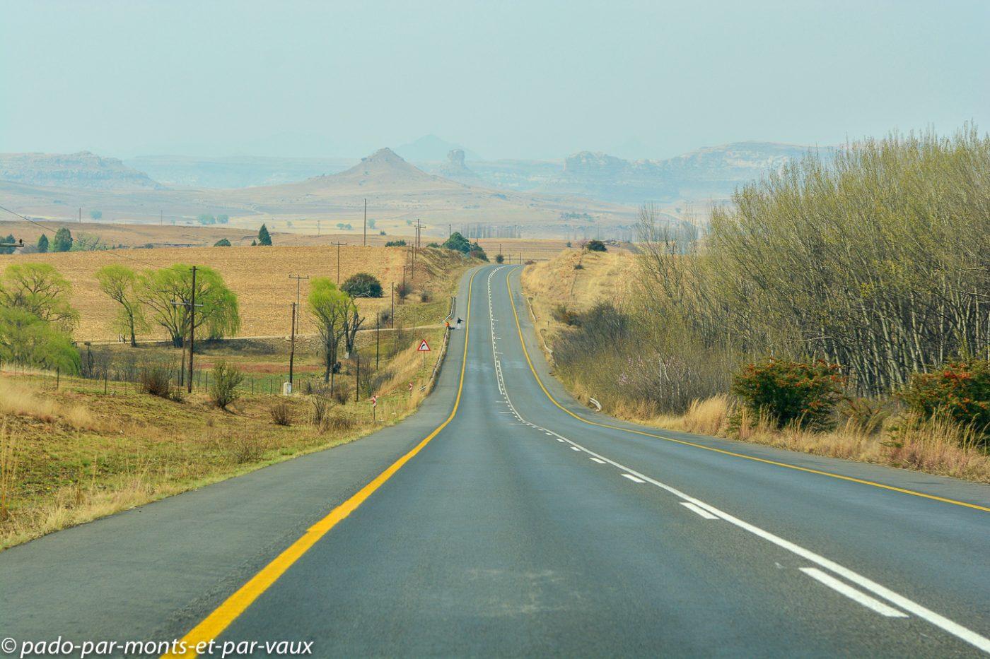 Afrique du Sud - direction de Clarens