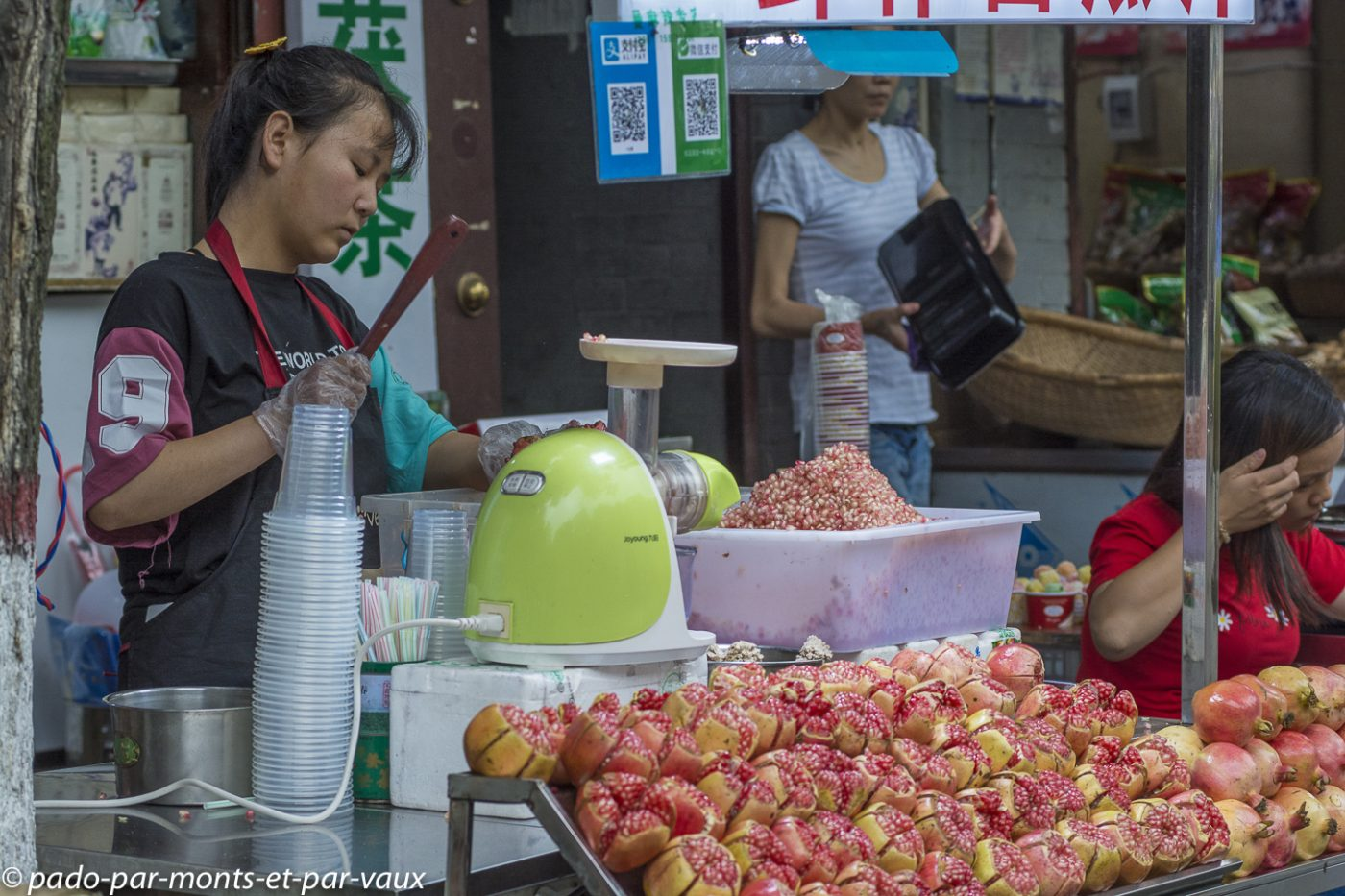 Xian - quartier musulman - jus de grenade