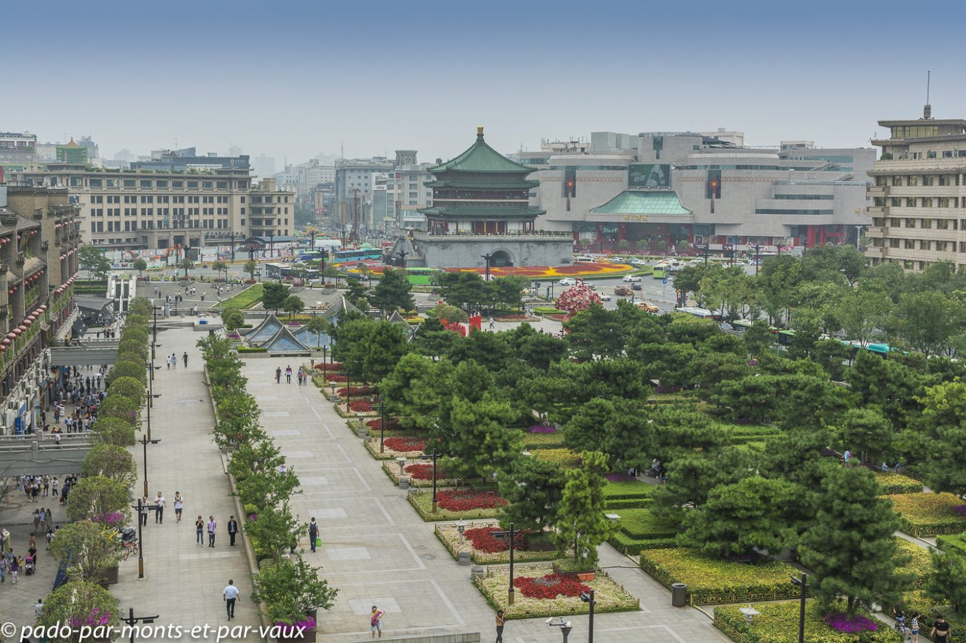 Xian - vue depuis la Tour du tambour