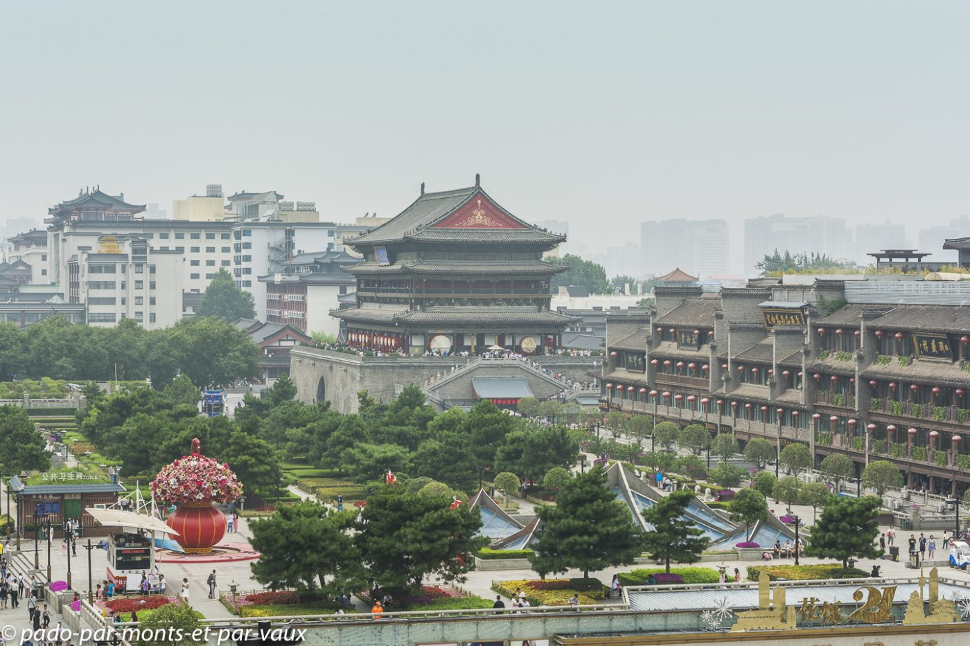 Xian - vue depuis la Tour de la cloche