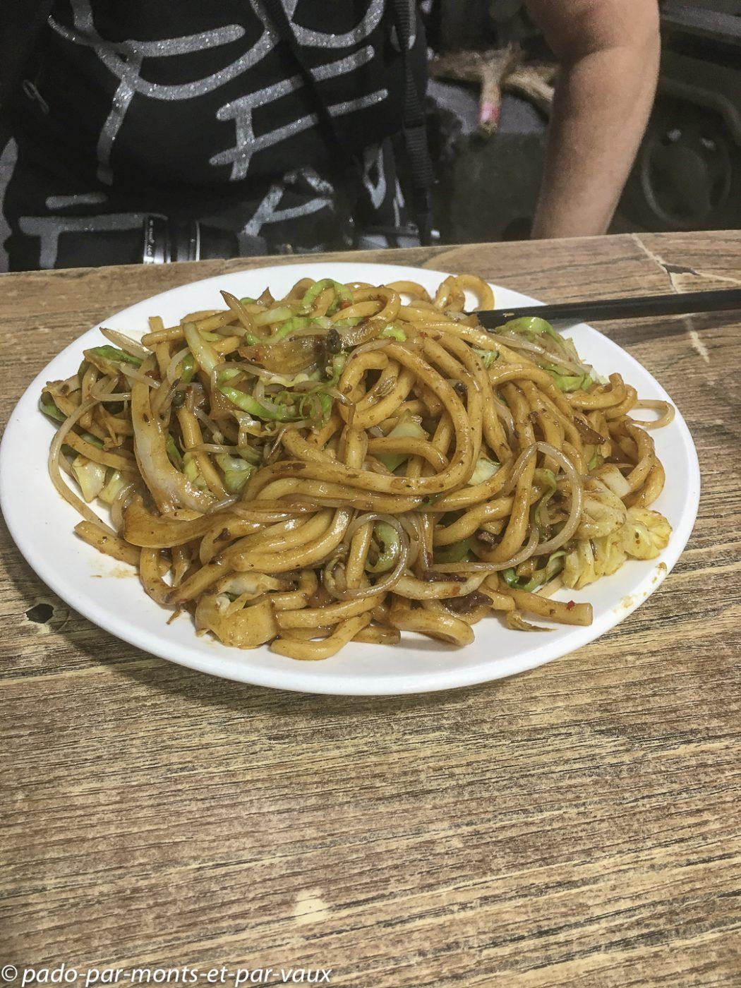 Xian  notre plat de nouilles