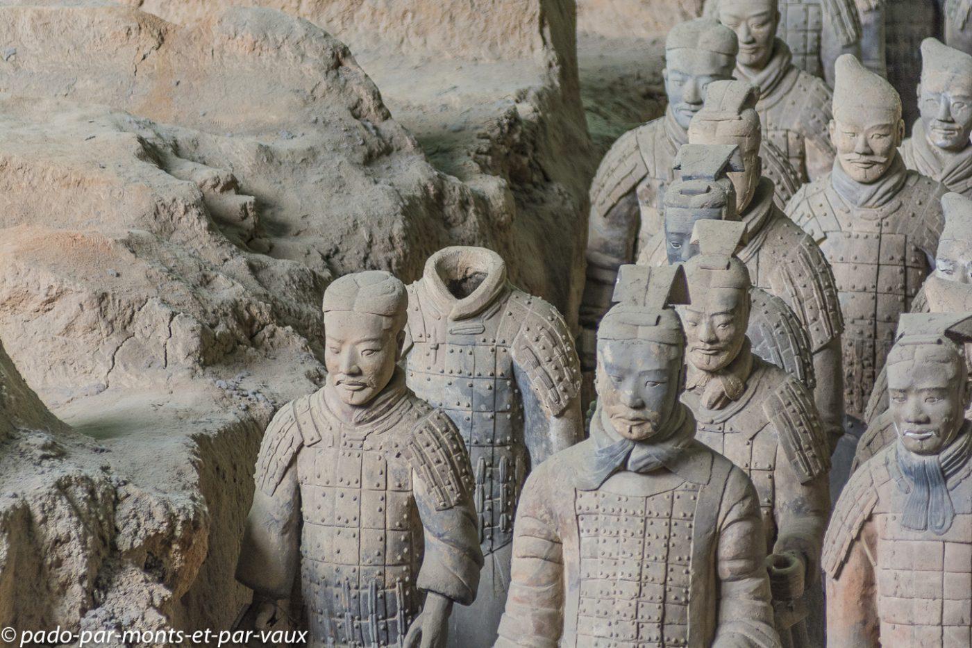 Xi'an - armée de soldats enterrés