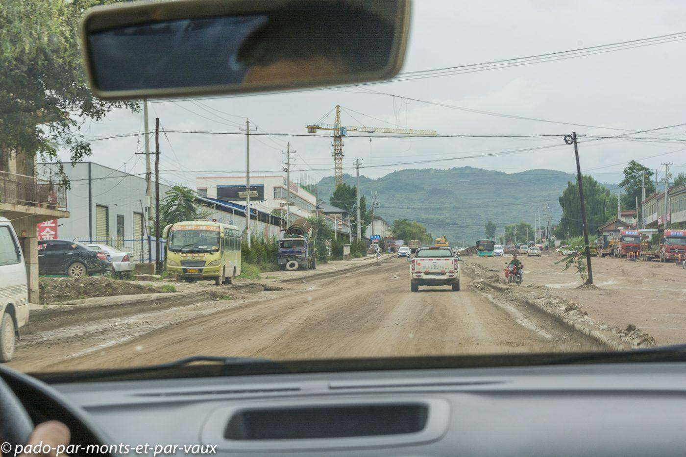 Route vers Maijishan