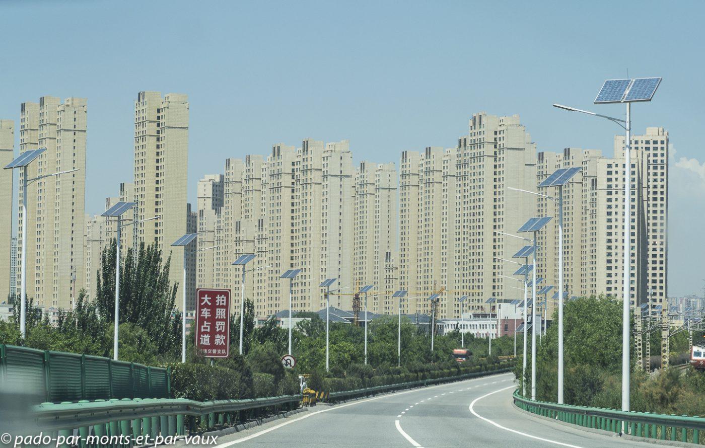 arrivée à  Xining