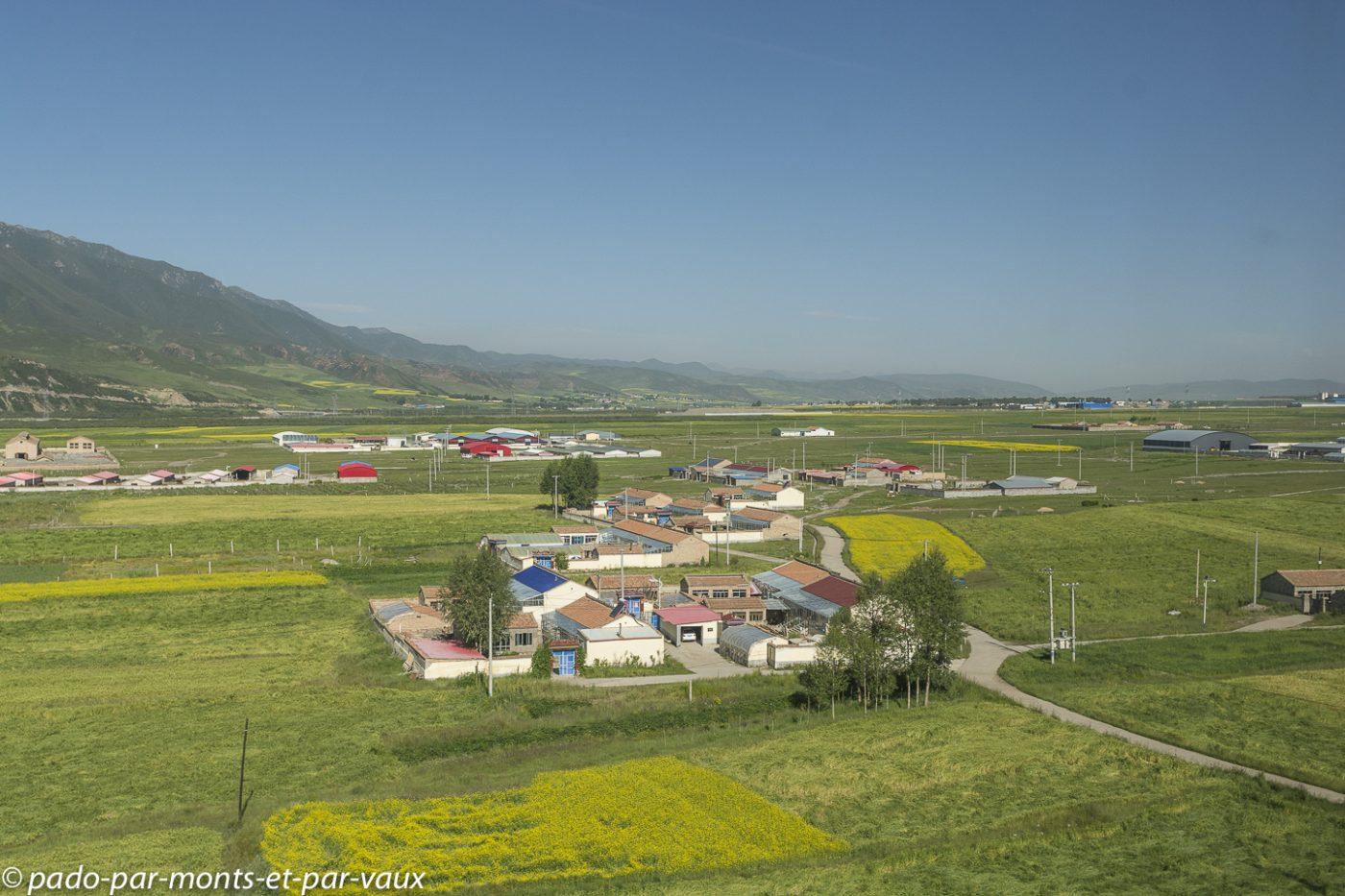Train de Xining à Zhangye
