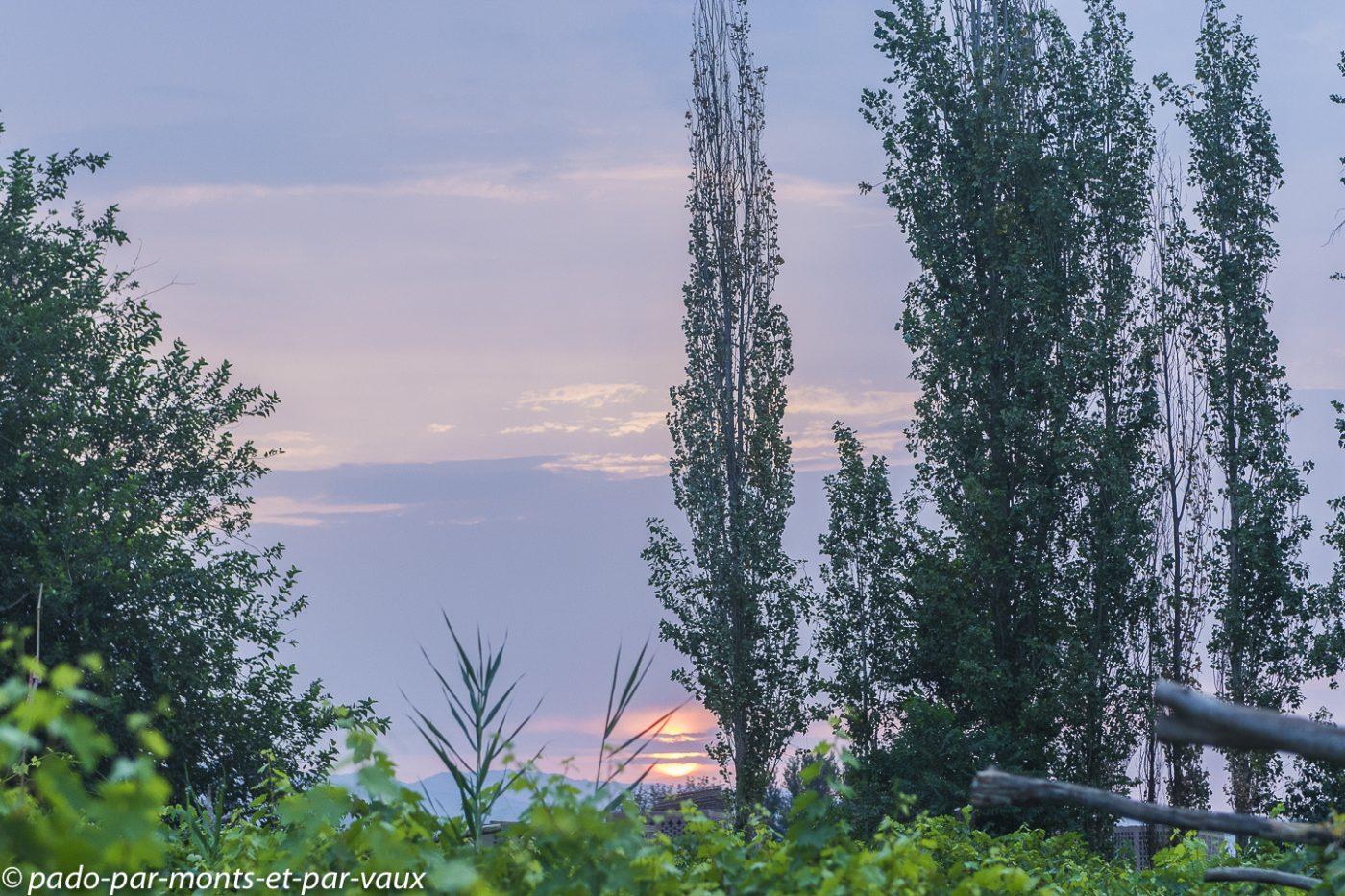 Turpan lever de soleil