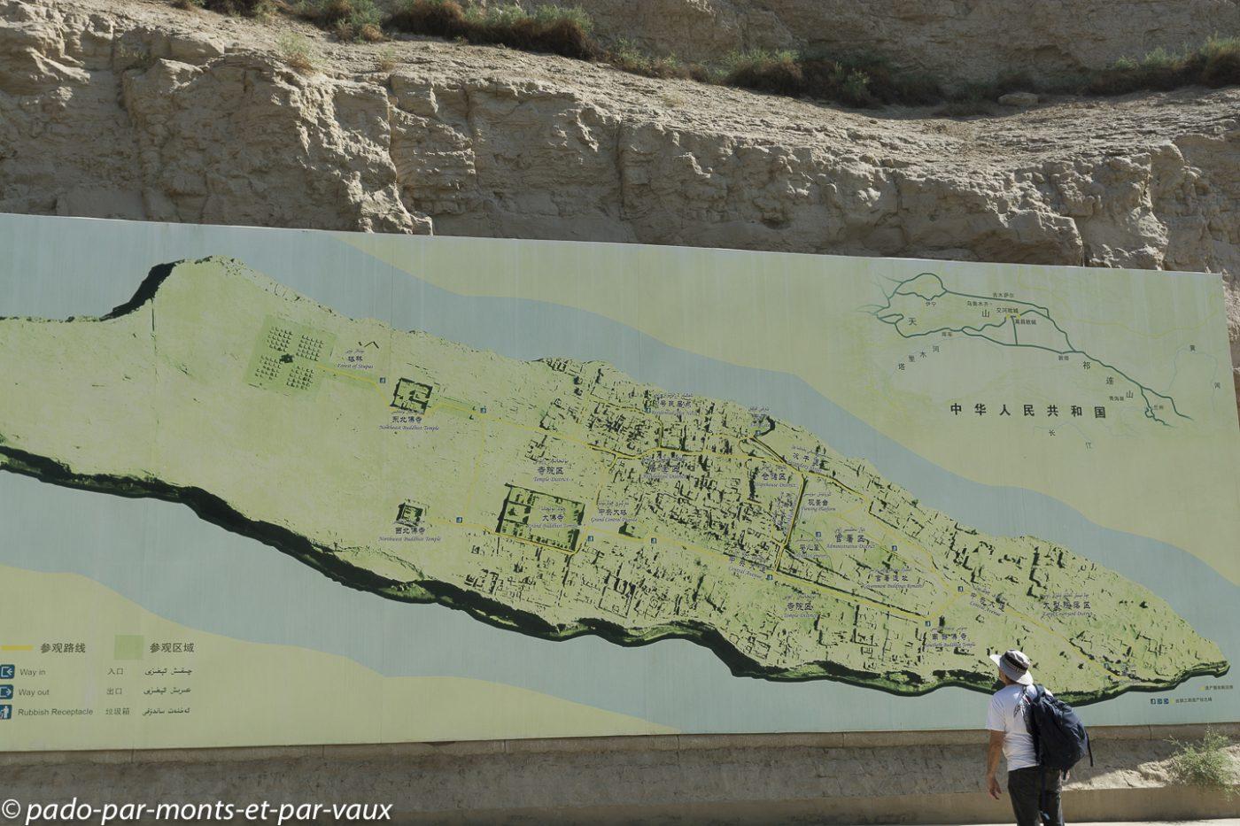 Jiaohe - plan du site