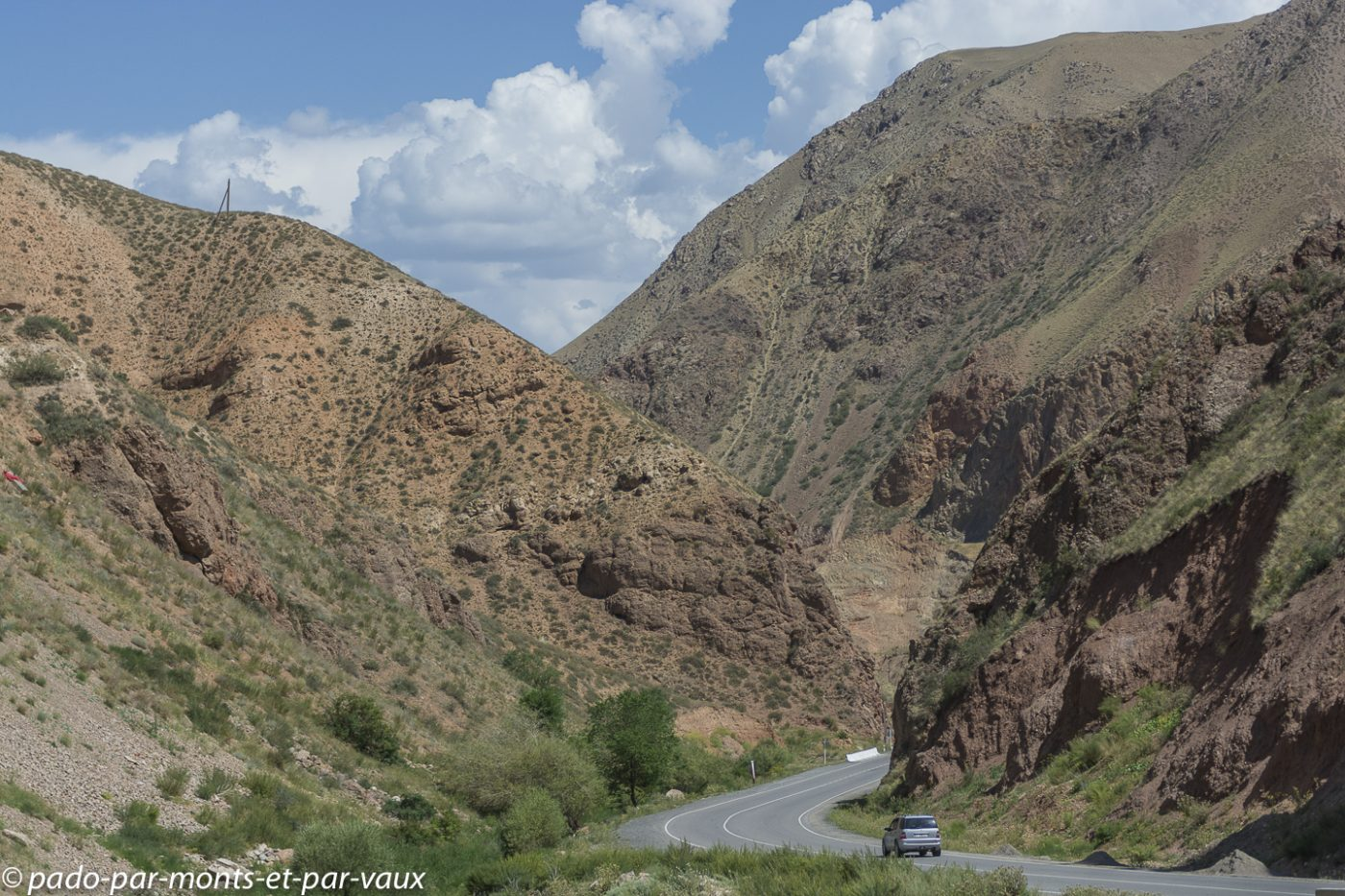 route vers Naryn