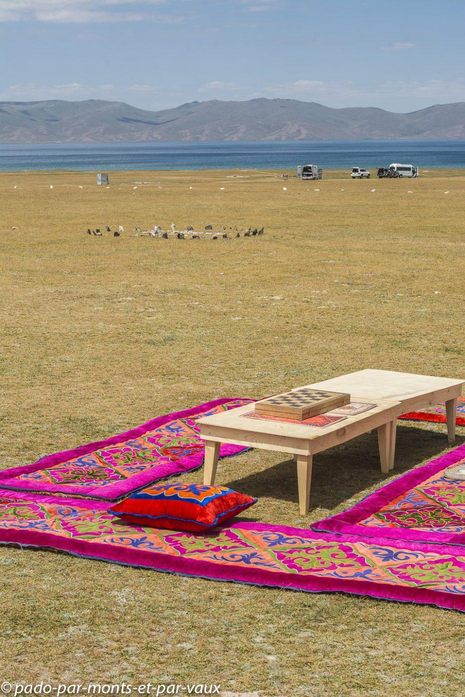 Lac Son Kul -  notre camp de yourtes