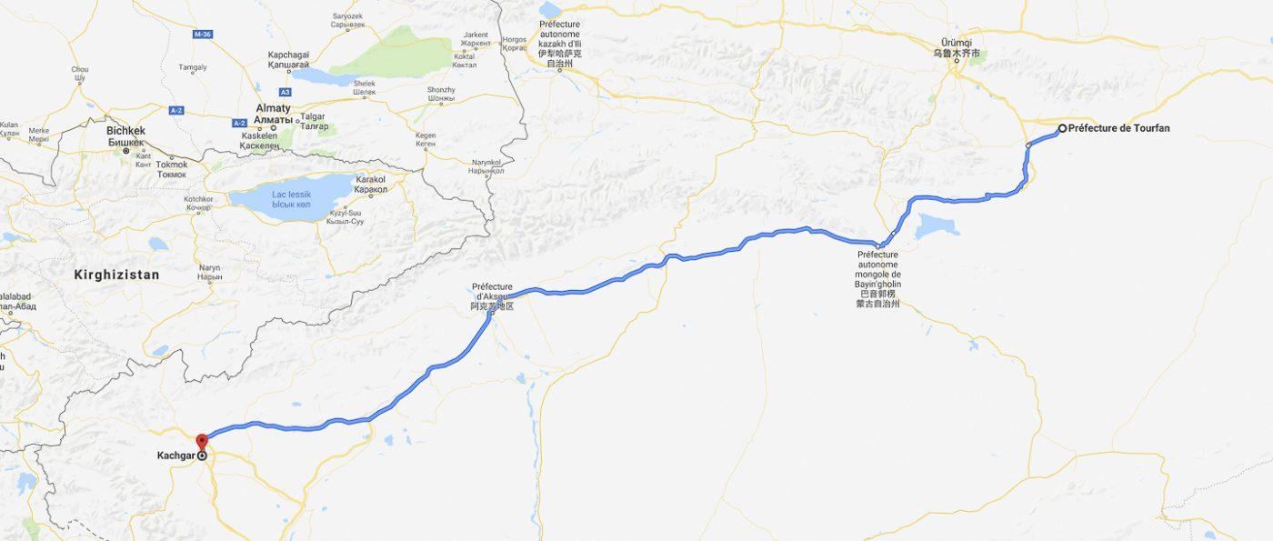 train vers Kashgar