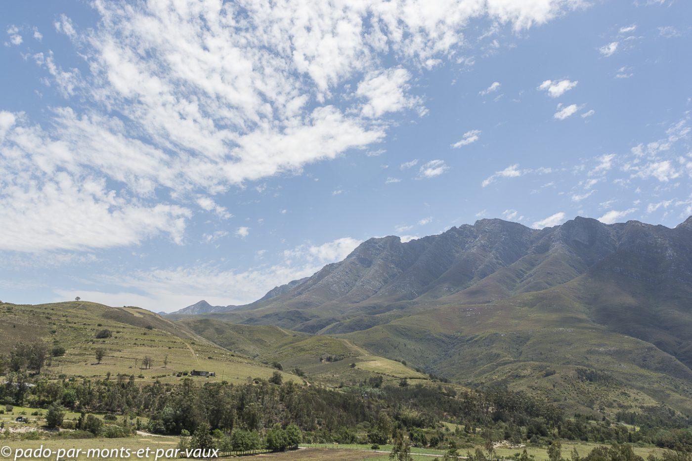 route vers De Hoop Nature reserve