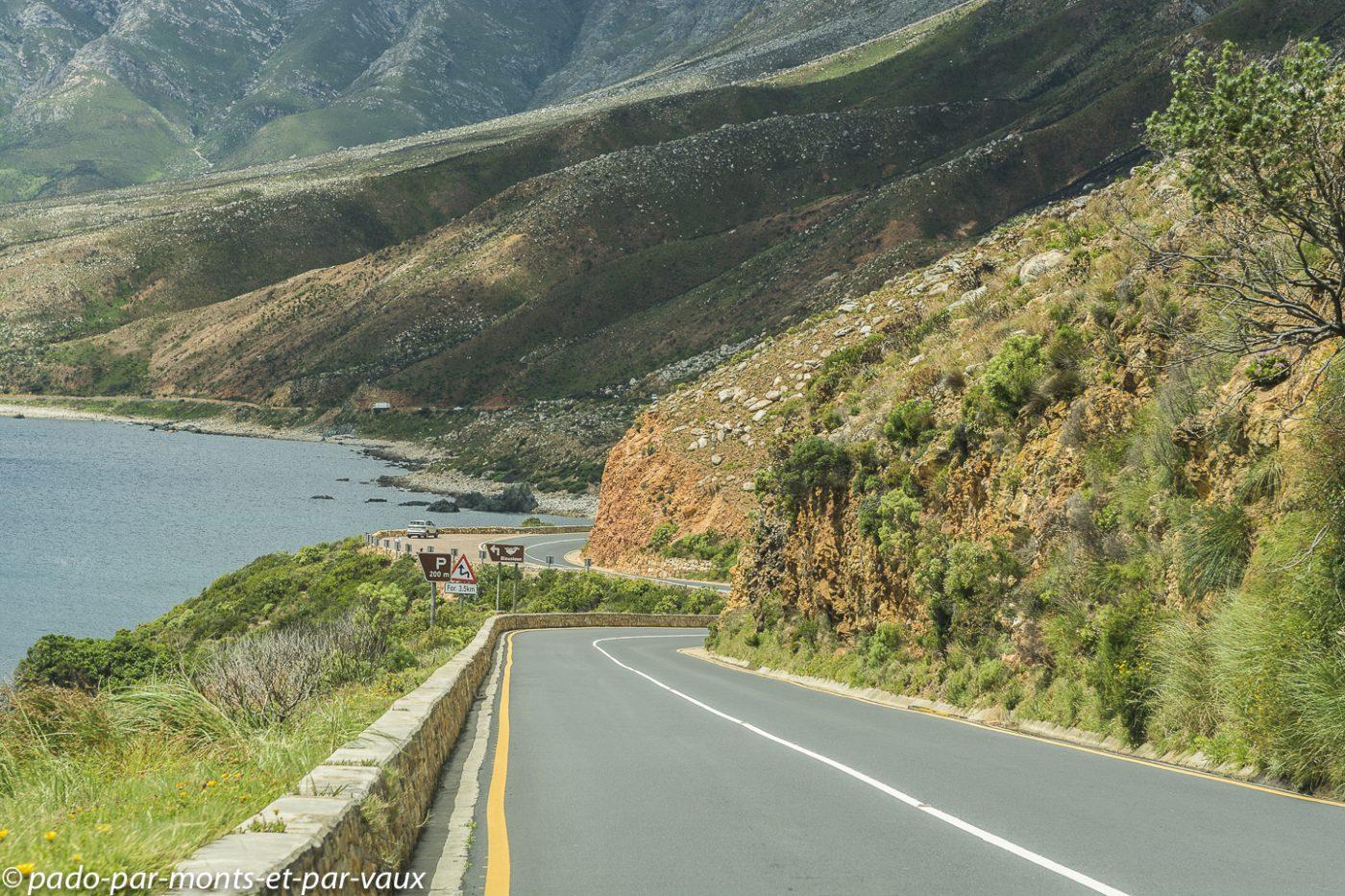 Route entre Betty's bay et Gordons bay