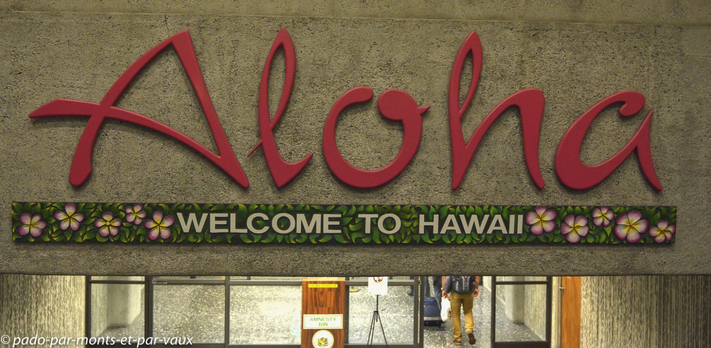 Arrivée à Honolulu airport