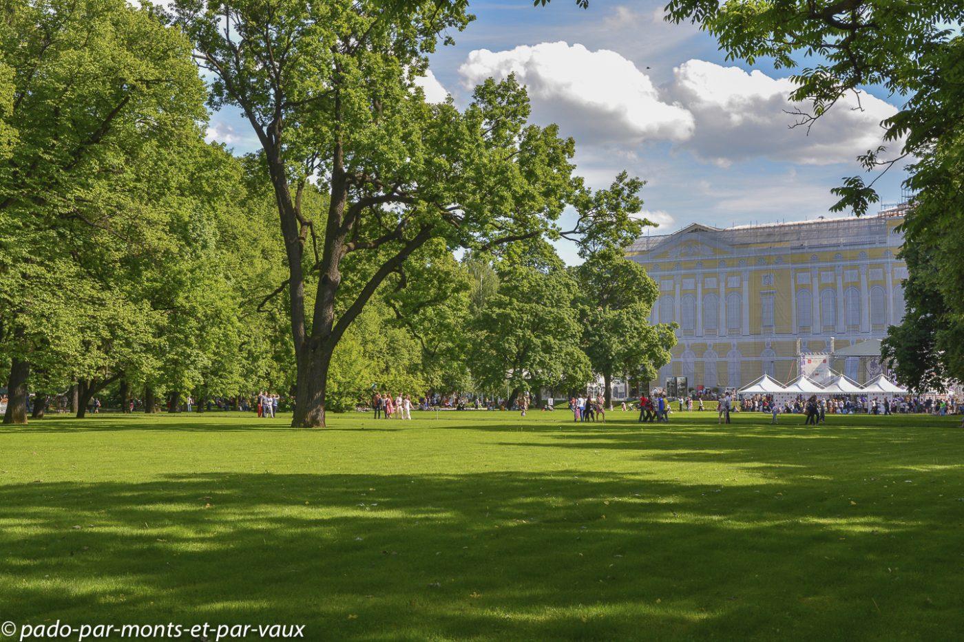 St Pétersbourg  - Jardin Mikhaïlovski