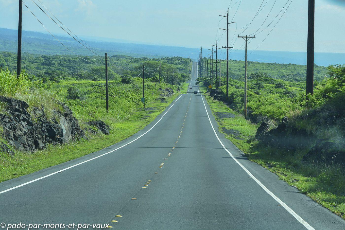 Big Island - route vers Hilo