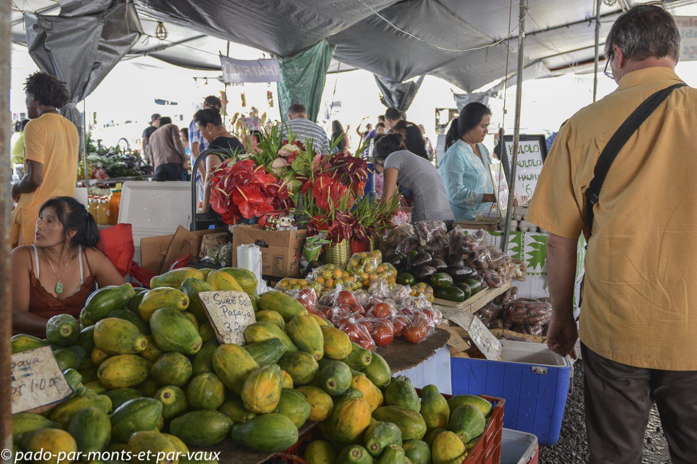 Big Island -  Hilo - marché