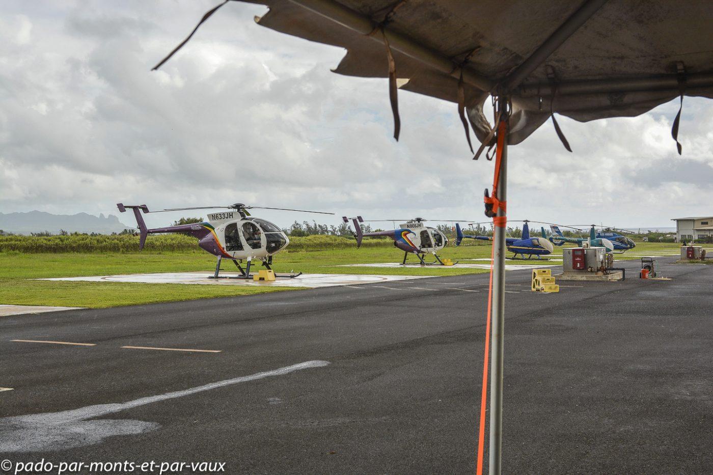 Kauai - Héliport