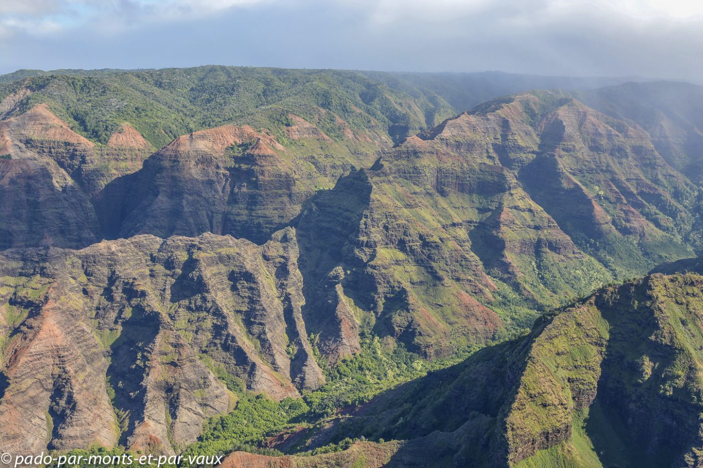 Kauai - survol de l'île - Waimea canyon