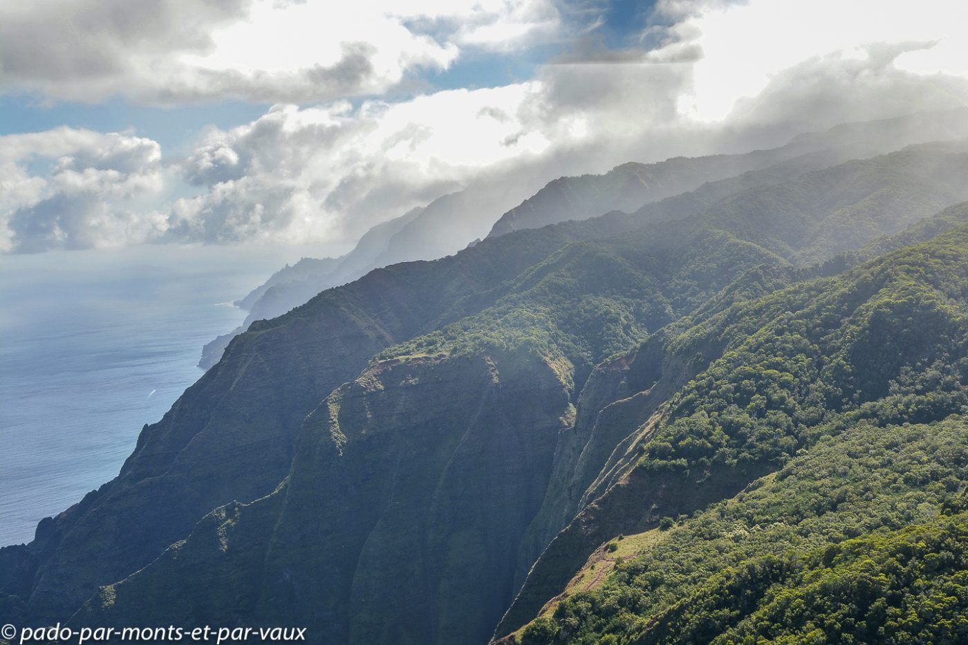 Kauai - survol de l'île