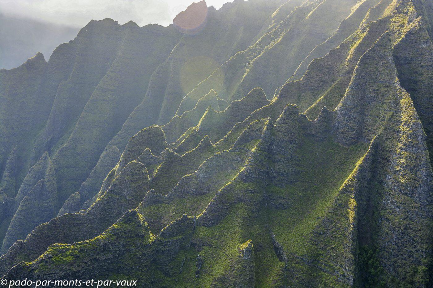 Kauai - survol de l'île - Napali coast