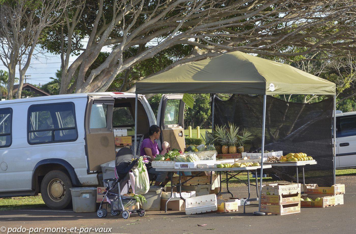 Kauai - Kapaa - marché
