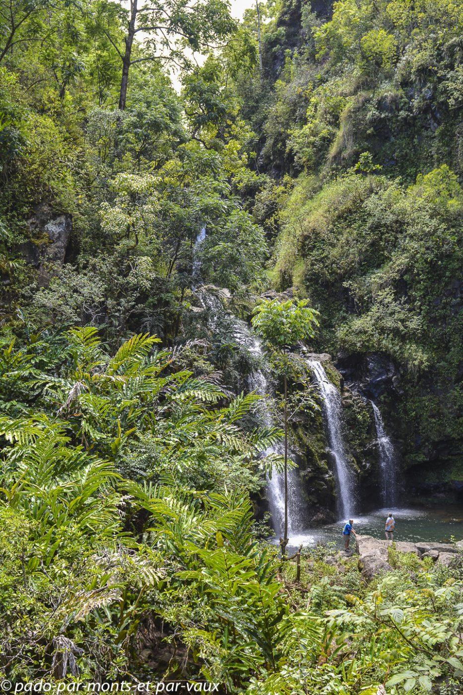 Maui - Route de Hana - Chute des trois ours